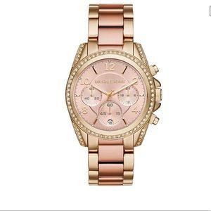 Michael Kors Women's Blair Rose Gold Bling Watch